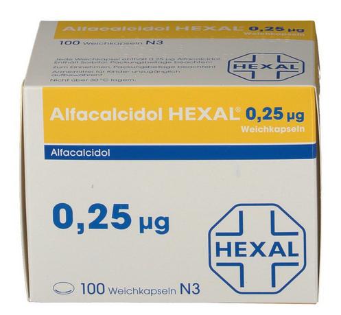 Альфакальцидол 0.25 цена