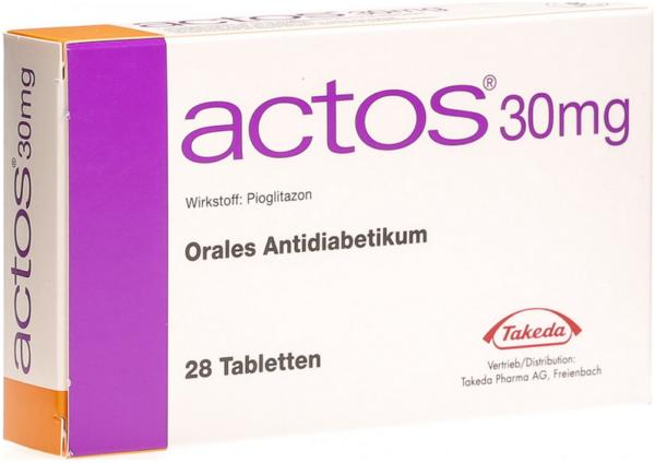 Актос 30 мг 196 шт цена