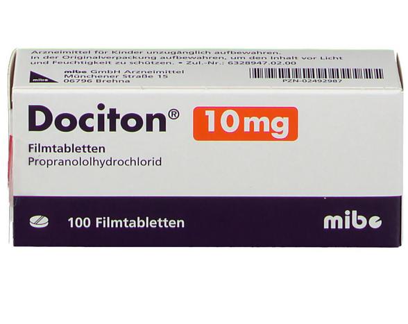 Доцитон 10 мг / Анаприлин 10 мг